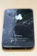 Broken iPhone 4 Back Glass