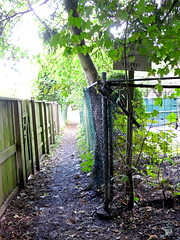 Please Stay on Walkway (judy_and_ed) Tags: light fence unguessed path guesswherevancouver lightattheend rossparknet