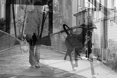 Virtual meetings (guido.masi) Tags: street bw digital canon eos florence doubleexposure streetphotography bn firenze guidomasi
