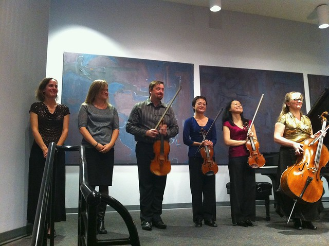 Arnica String Quartet with Oboist and Pianist