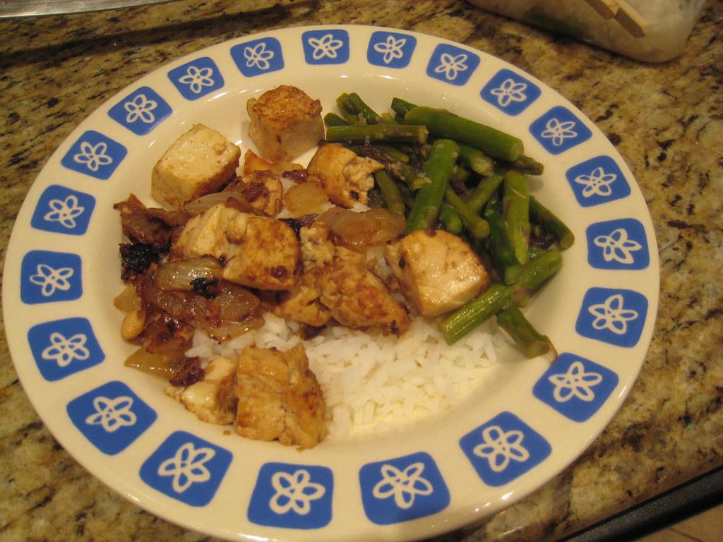 tofu/asparagus
