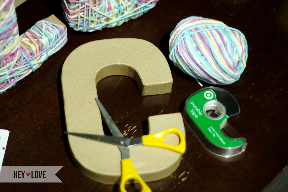 Get Crafty! Yarn Letters