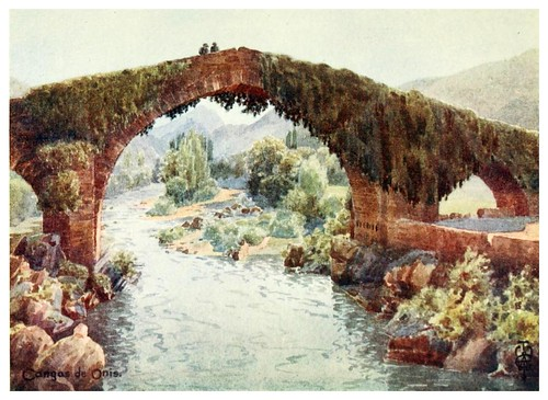 017-Cangas de Onis puente sobre el Sella-Northern Spain painted and described-1906- Edgar Thomas Ainger
