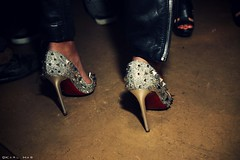 Louboutin (Karl Hab) Tags: paris west girl fashion by heels karl week presentation sparks dw effected afterparty hab louboutin kanye 2011