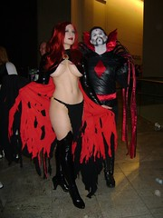 Goblin Queen and Mister Sinister (BelleChere) Tags: atlanta costume geek cosplay harrypotter convention marvel dragoncon siriusblack madelynepryor goblinqueen yuleball mistersinister bellatrixlestrange