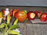 Another Heartfelt Message Written On An Apple. Photo By Melinda Hood
