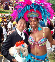 Seara (sea rabbit), Dr. Takeshi Yamada and costumed beautiful parader at the Labor Day Parade (West Indian-American Day Parade) in Crown Heights, Brooklyn, New York. (September 5, 2011)  20110905 100_2506 (searapart7) Tags: carnival portrait sculpture newyork sexy celebrity rabbit art ecology fashion monster japan brooklyn painting coneyisland japanese tokyo google dragon dinosaur georgebush politics gothic goth victorian taxidermy vogue cnn tuxedo freak bbc playboy environment osaka abc genius mermaid salvadordali billclinton mythology pbs ronaldreagan anthropology cbs scientist jackalope nhk globalwarming cabinetofcuriosities kunstkammer zoology pablopicasso steampunk wunderkammer cryptozoology alberteinstein barackobama rushlimbaugh leonardodavinci circussideshow fijimermaid marinebiologist cryptid michaelbloomberg niconico greatartist seanhannity globalcooling michaelsavage takeshiyamada museumofworldwonders globalclimatechange roguetaxidermy searabbit