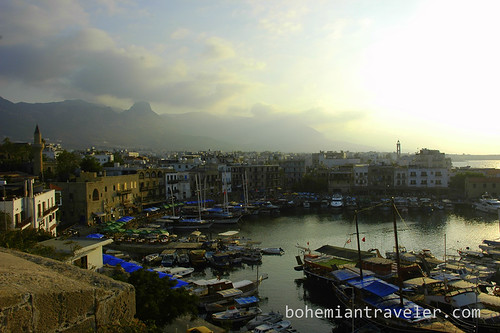 Girnes old harbor from Castle walls