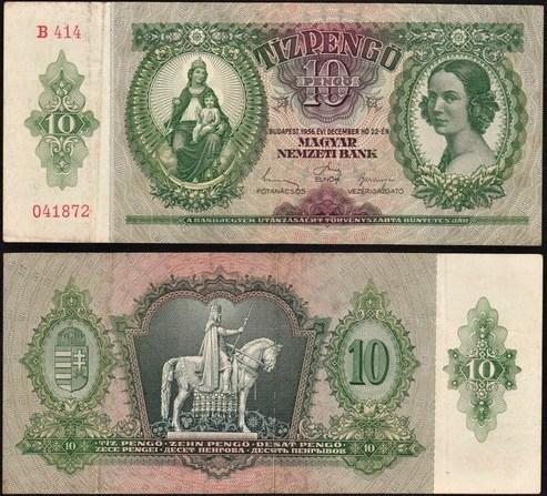 10 Pengő Maďarsko 1936, Pick 100