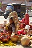 Jaipur potters (jebob) Tags: street city urban india women pots pottery colourful trade jaipur rajasthan hawkers saris sellers