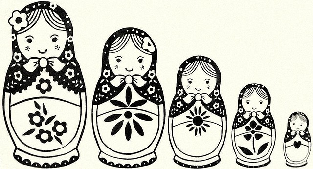 Babushka dolls set of 177