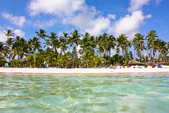 Bvaro Beach, Punta Cana (jenscrabbe) Tags: ocean sea holiday beach water swimming puerto sand dominican republic view plata punta caribbean cana domingo santo hispaniola westindies bavaro republiek dominicaanse