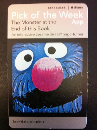 Starbucks iTunes Pick of the Week - The Monster at the End of the Book [app]
