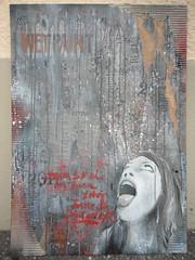 EINE FRAGE DER VERNUNFT? (nestdafoe) Tags: streetart graffiti stencil exhibition canvas urbanart cardboard freiburg ausstellung foe kunstverein schablone nestdafoe gallerygallerie