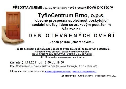 Pozvánka na Den otevřených dveří, 1. 11. 2011