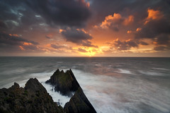 Hartland Quay (peterspencer49) Tags: longexposure sunset seascape clouds coast unitedkingdom devon coastline oceanview seaview coastalpath westcountry southwestcoast southwestcoastalpath hartlandquay stunningview seascene cliffwalks 5dmkll peterspencer stunningseascape coastalledges