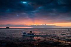 Depart en peche (Ronan Follic) Tags: sunset mer france sunrise brittany bretagne breizh nuages sein raz finistere pointeduraz iledesein pennarbed enezsun capsizun pointedebretagne