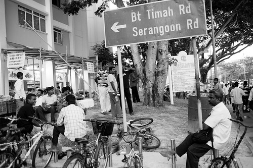 Men and bicycles. Little India, Singapore
