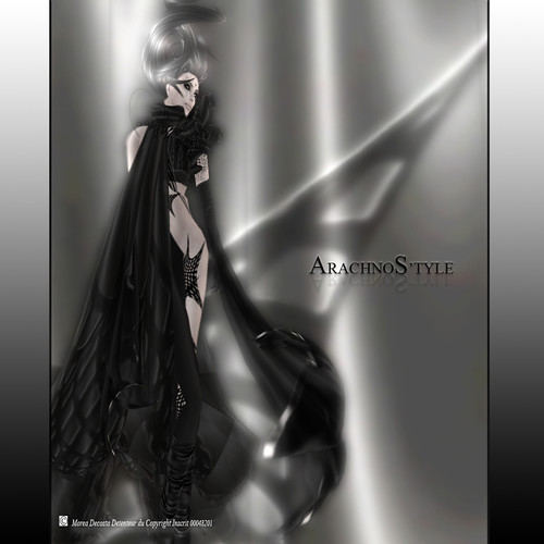 Arachnostyle dress, Special Halloween, 425 lindens by Cherokeeh Asteria