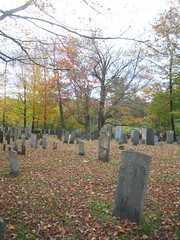 Cemetery in Center of Salisbury, NH #3 (catchesthelight) Tags: blue trees red orange white color green fall cemetery leaves yellow fence maple scenery colorful moments newengland nh fallfoliage foliage stonewall birch maples gravestones momentos picket leafpeeping itsmulticolored centralnewhampshire fallfoliagephotography