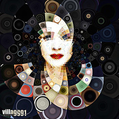 Madonna Dot by dot (mosaic) (Village9991) Tags: music illustration mom star dance image mosaic circles album madonna icon pop queen virgin illusion cover 80s singer dancefloor dots 90s ciccone