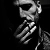 ..... (monyart) Tags: shadow portrait blackandwhite bw white man beautiful amsterdam contrast dark hand cigarette smoking psycho biancoenero monyart