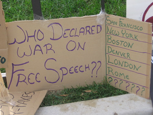 Who Declared War on Free Speech?, From FlickrPhotos