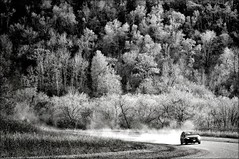 . another dusty road . (susanonline (busy these days)) Tags: trees car manitoba valley dust gravel dustyroad speedingby susanonline southofmorden