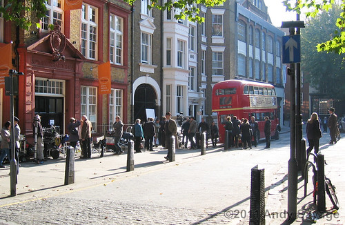 Filming in Dukes Road, London