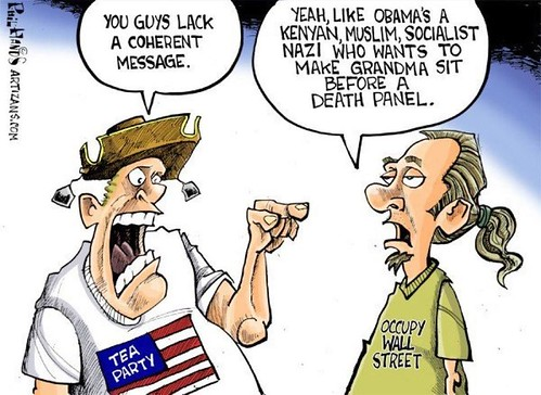The Message Is ... (Tea Party vs. Occupy Wall Street)