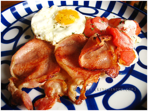 Cafe Breton - Galette with Bacon and Eggs