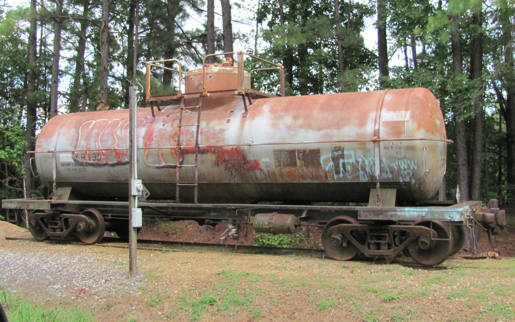 Parked Tank Car