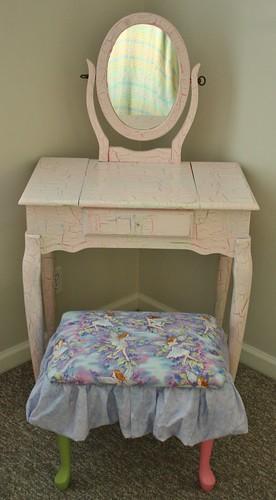 Lexie's vanity and stool