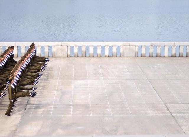 Women soldiers marching -- photo by Sam Gellman