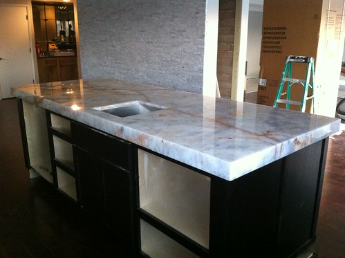 Kitchen Island Installed