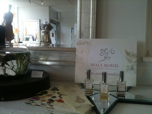 Ayala Moriel Parfums display at Adhesif Boutique