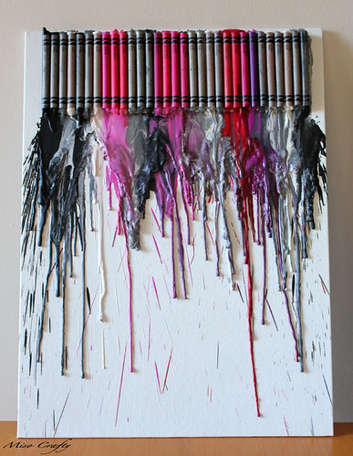 Crayon Canvas Melt - Barbie