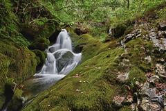 Cascada en Vildoso (Jose Casielles) Tags: naturaleza musgo rio agua len gera aventura yecla inaccesible fotografasjcasielles faedovildoso hayedovildoso