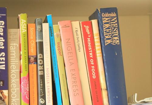 Cookbooks in the cupboard