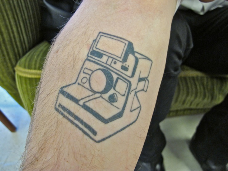 Polaroid tattoo