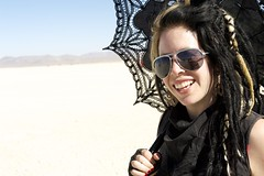 Dre, Jess was *VERY CLEAR*!  Black is (apparently) not a color. (wtbzl) Tags: black nevada burningman blackrockcity brc bm falseprofit dre blackrockdesert ritesofpassage colorday bm11 burningman2011 bm2011 sidneysultramegafaves2011portraits