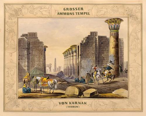 004-Gran templo de Amon en Karnak-Malerische Ansichten aus dem Orient-1839-1840- Heinrich von Mayr-© Bayerische Staatsbibliothek