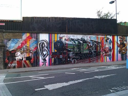 Fabulous mural in Camden