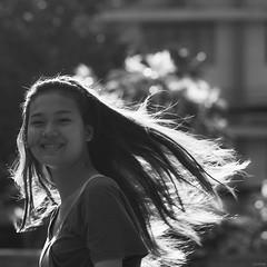 Sunshine (-clicking-) Tags: girls light portrait blackandwhite bw sunlight monochrome beautiful smile sunshine smiling silhouette hair square happy blackwhite asia pretty mood faces emotion bokeh streetphotography happiness streetlife vietnam enjoy squareformat feeling moment lovely backlighting visage nocolors 500x500 vietnamesegirls bestportraitsaoi doubleniceshot tripleniceshot artistoftheyearlevel3 artistoftheyearlevel4 artistoftheyearlevel5