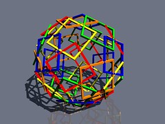 Color Frames (fdecomite) Tags: color 3d geometry slide together printing math dodecahedron polyhedron