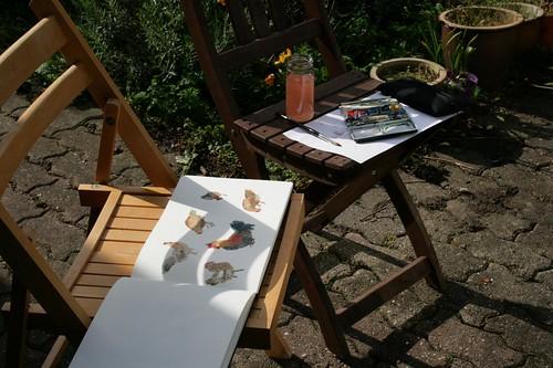 garden sketching setup
