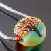 Charm bead-Big hole : Autumn tree