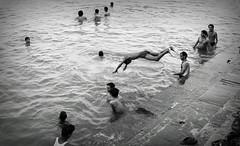 (Sourav_Khanra) Tags: boy people india monochrome swim canon river photography bath candid group varanasi historical leisure incredible 50d 1855mmf3556 souravkhanra