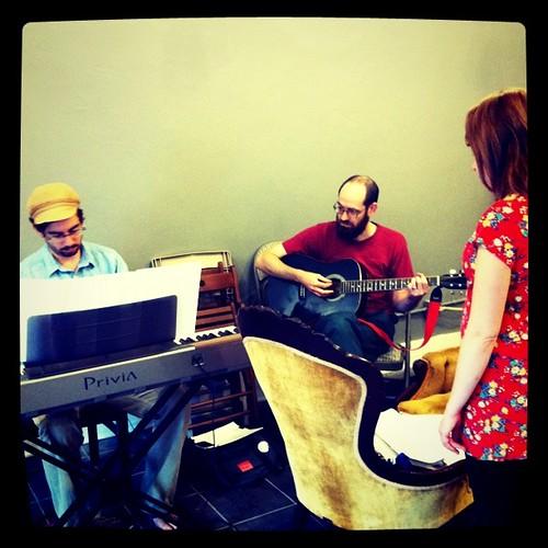 musician rehearsal