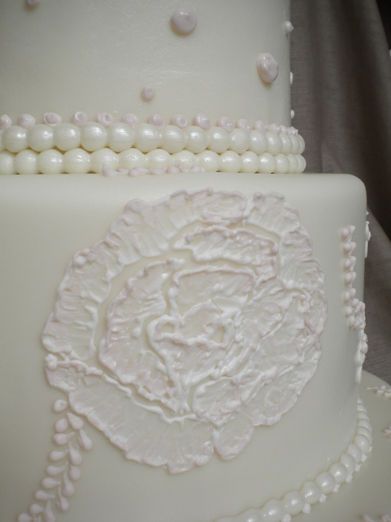 embroidered lace wedding cake white icing the world s most recently posted photos of embroidery and 14011